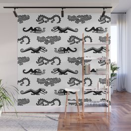 Alligator Dance Party Wall Mural
