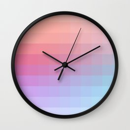 Lumen, Pink and Lilac Light Wall Clock