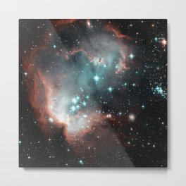 Nebula and stars Metal Print