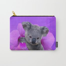 Koala and Orchid Carry-All Pouch