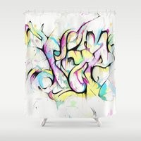 trip Shower Curtains featuring Trip by Parker Gibson
