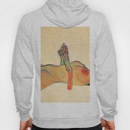 Egon Schiele - Orange knuckles and nipples (new color edit) Hoody
