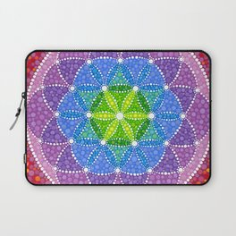 Rainbow Flower of Life Laptop Sleeve