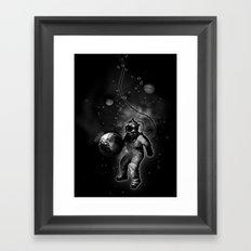 Deep Sea Space Diver Framed Art Print