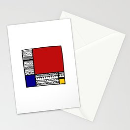 Pattern Mondriaan Stationery Cards