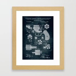 1881 - Revolving fire arm (Colts patent) Framed Art Print
