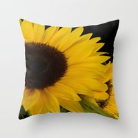 sunshine Throw Pillows featuring Sunshine by Lena Photo Art