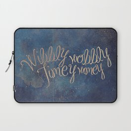 Wibbly wobbly (Doctor Who quote) Laptop Sleeve