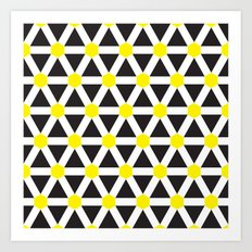Geometric Pattern #176 (white yellow) Art Print