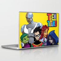 teen titans Laptop & iPad Skins featuring Teen Titans by Paige Thulin