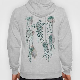 hanging plant in seashell Hoody