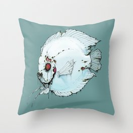 Zombie Discus Throw Pillow