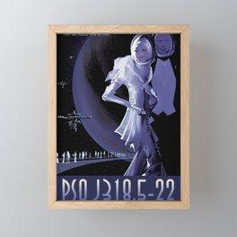 NASA Retro Space Travel Poster #10 PSO J318.5-22 Framed Mini Art Print