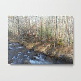 Smoky Mountains Water Metal Print