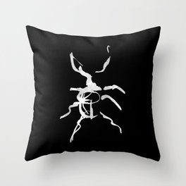 bug #1 black Throw Pillow