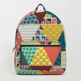 llama geo triangles Backpack