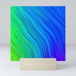 stripes wave pattern 1 stdv Mini Art Print