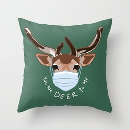 You Are Deer To Me Throw Pillow