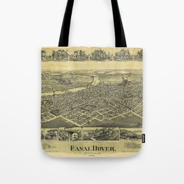 Aerial View of Canal Dover, Ohio (1899) Tote Bag