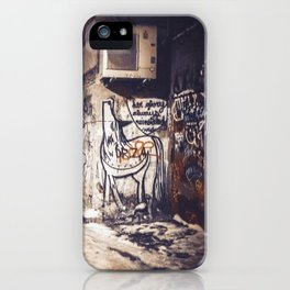Lower East Side - Midnight Warmth on a Snowy Night iPhone Case