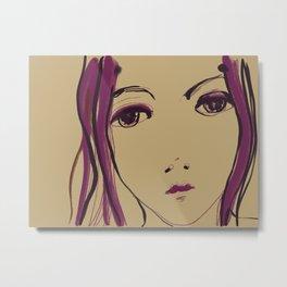 Face sketch #5 Metal Print