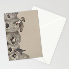 Cliff Swallow Nests Stationery Cards