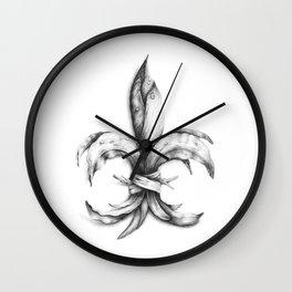 Iris Pseudacorus Wall Clock