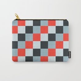 Stainless steel knife - Pixel patten in light gray , light blue and red Carry-All Pouch