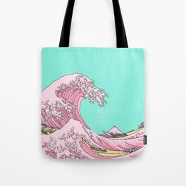 Great Pastel Wave Tote Bag