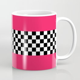 Checkerboard plus pink Coffee Mug