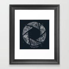Traveling Lens (Dark Blue) Framed Art Print