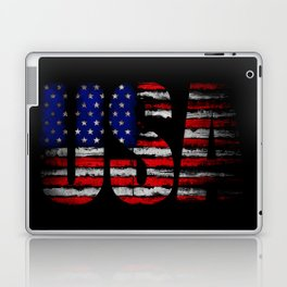 Distressed USA Flag Laptop & iPad Skin