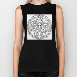Pencil Wars Shield Biker Tank