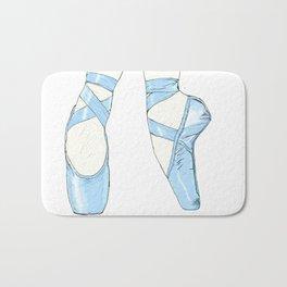 Ballet Pumps: Blue Bath Mat