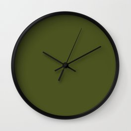Army Green- solid color Wall Clock