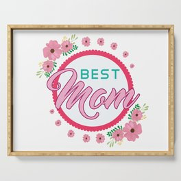 Happy Mothers Day Message Best Mom Grandma Gift Serving Tray