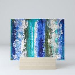 Blue waves 3 Mini Art Print
