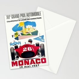 Classic Grand Prix Poster Stationery Cards