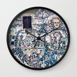 zagar in south philly Wall Clock