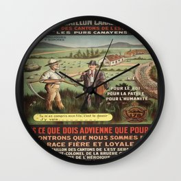 Vintage poster - WWI Canadian Recruiting Wall Clock