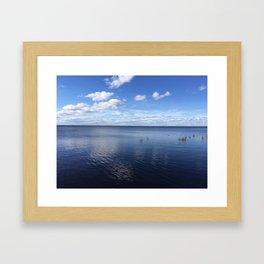 Blue Lake Framed Art Print