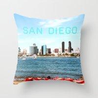 san diego Throw Pillows featuring San Diego  by Natasha Alexandra Englehardt