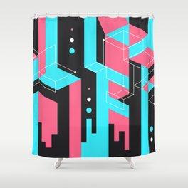 Flat Geometry Shower Curtain