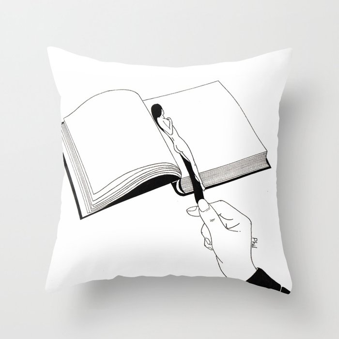 Bookmark Throw Pillow
