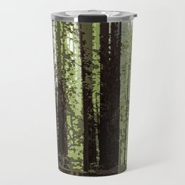 Northern California Redwood Forest Pixelart Travel Mug