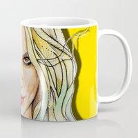 britney Mugs featuring BRITNEY YELLOWNEY by CARLOS CASANOVA