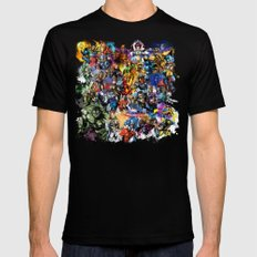 Marvel MashUP MEDIUM Black Mens Fitted Tee