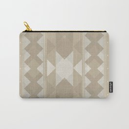 Pattern 1 Taupe Carry-All Pouch