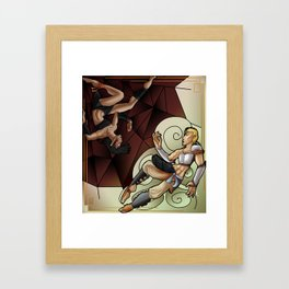 The Spider and the Lioness Framed Art Print