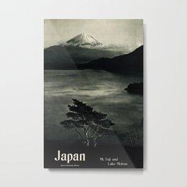Japan Mt Fuji 1930 Vintage Travel Poster Metal Print